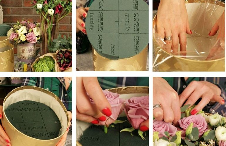 Подготовка растений для букета