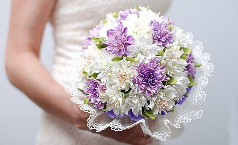Нежный букет невесты из фоамирана