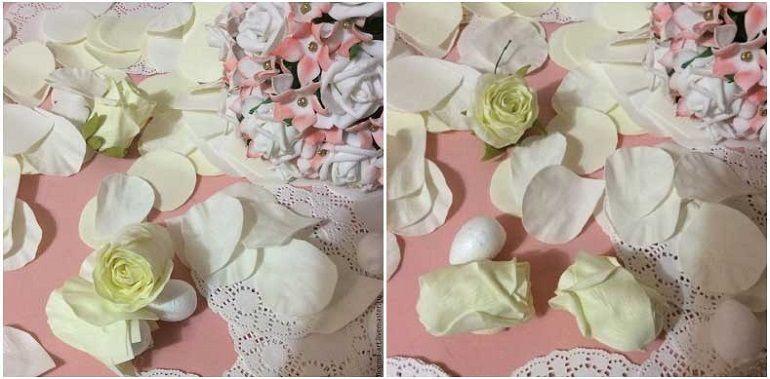 Формирование лепестков розы