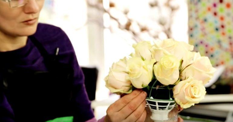Цветы в портбукетнице