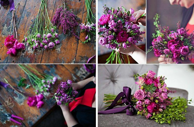Яркий букет из живых цветов
