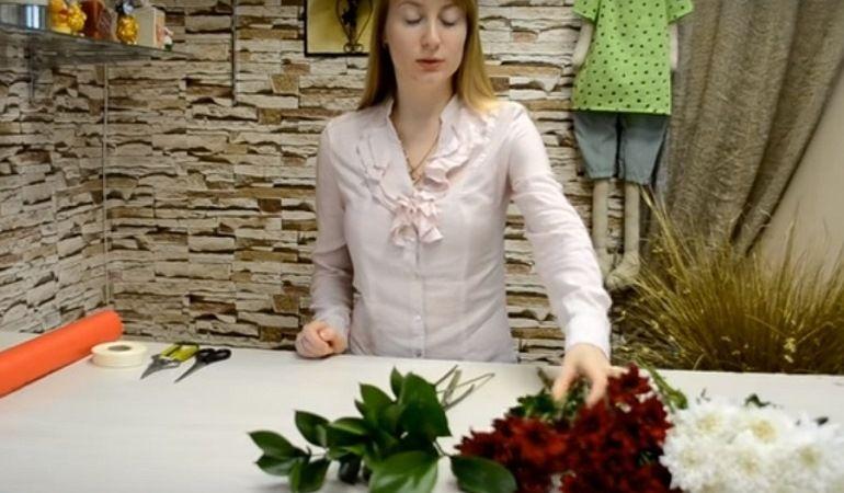 Что потребуется для составления букета из хризантем