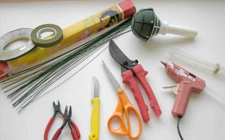 Инструменты для составления букета
