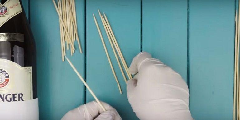 Заготовки из деревянных шпажек
