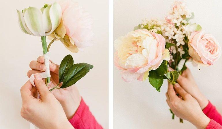 Суккулент и розы