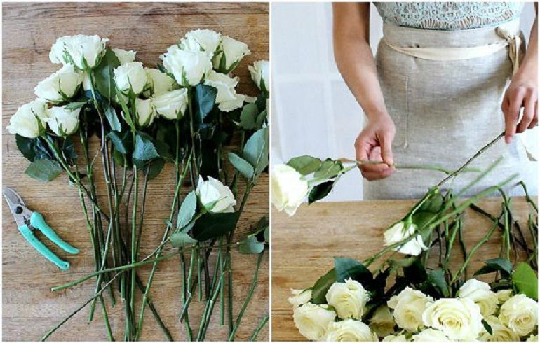 Подготовить розы
