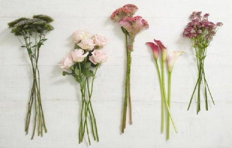 Подготовить цветы для сборного букета