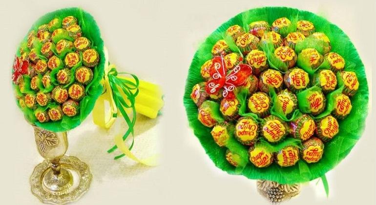 Весенний букет из конфет