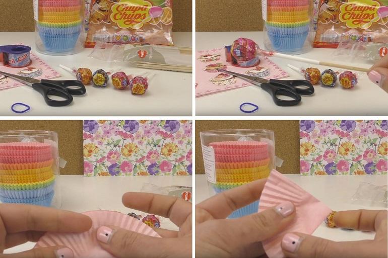 Подарок для любимой из конфет