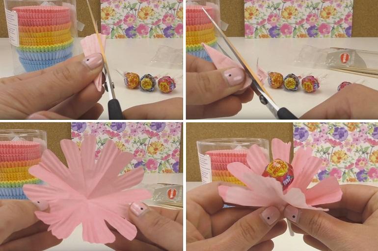 Как составить букет из конфет