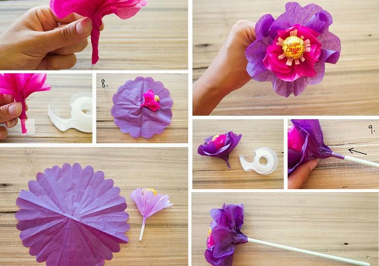 Конфетно-цветочные композиции - как сделать