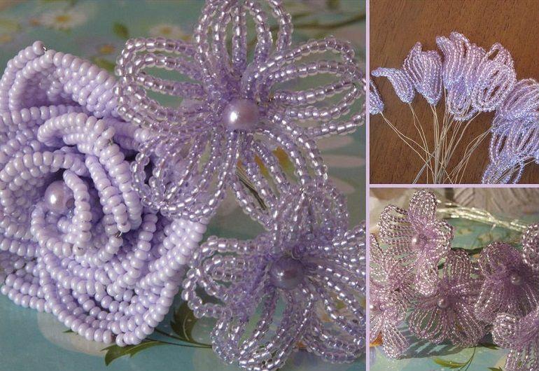 Ромашковидные хризантемы из бисера