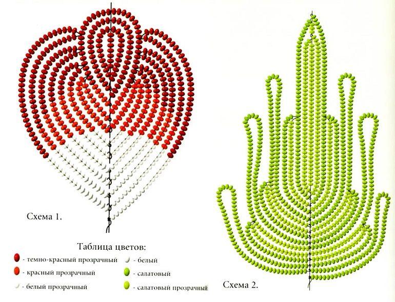 Схема плетения анемона