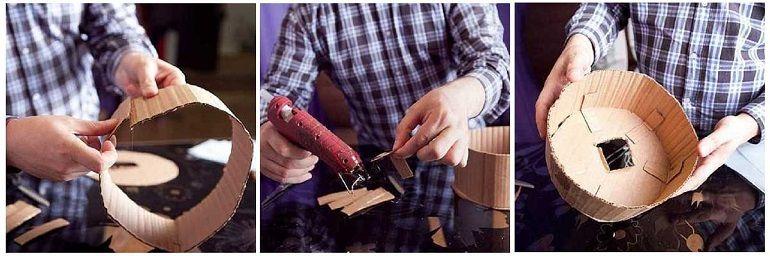Изготовление каркаса из картона для букета