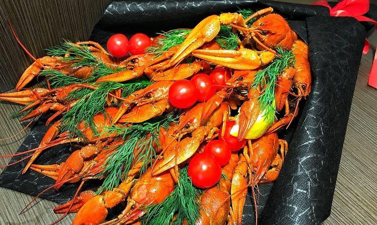 Мужской букет из морепродуктов