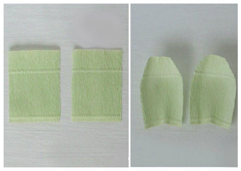 Заготовки из креповой бумаги