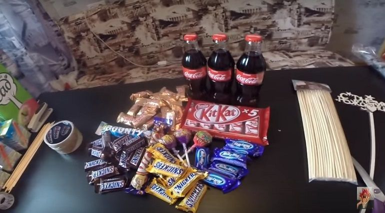 Детский букет для сладкоежки