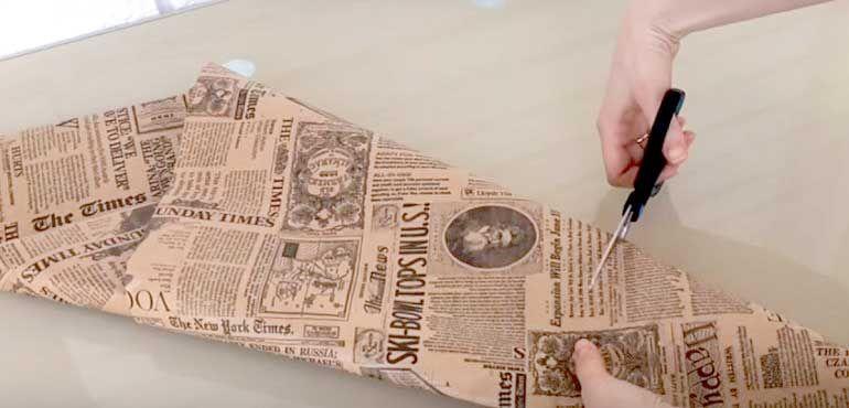 Пакет и крафт бумаги