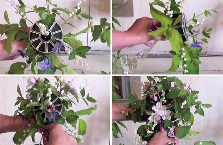 Сборка цветочной композиции