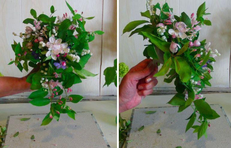 Нежный букет из весенних цветов