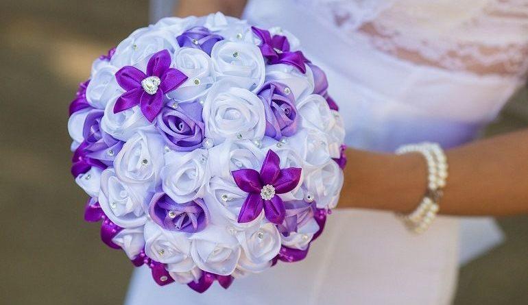 Букет-канзаши для свадьбы