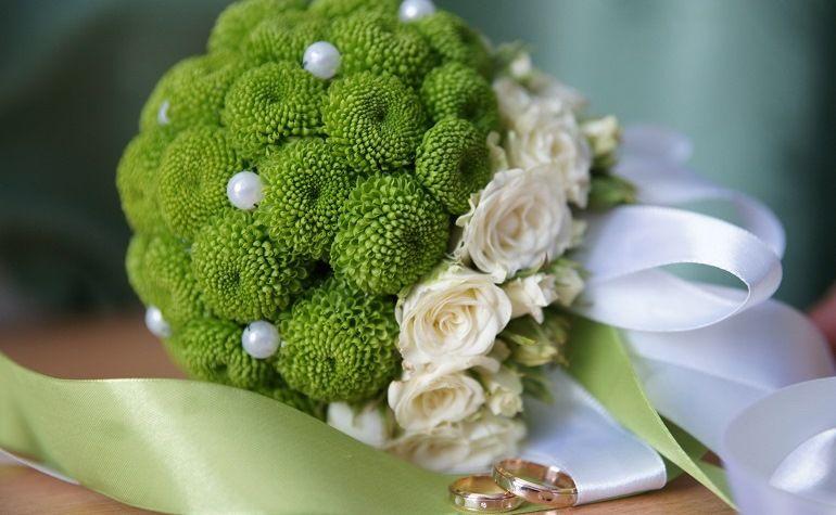 Зеленые цветы для букета невесты