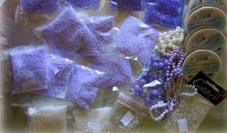 Материалы для плетения цветов из бисера