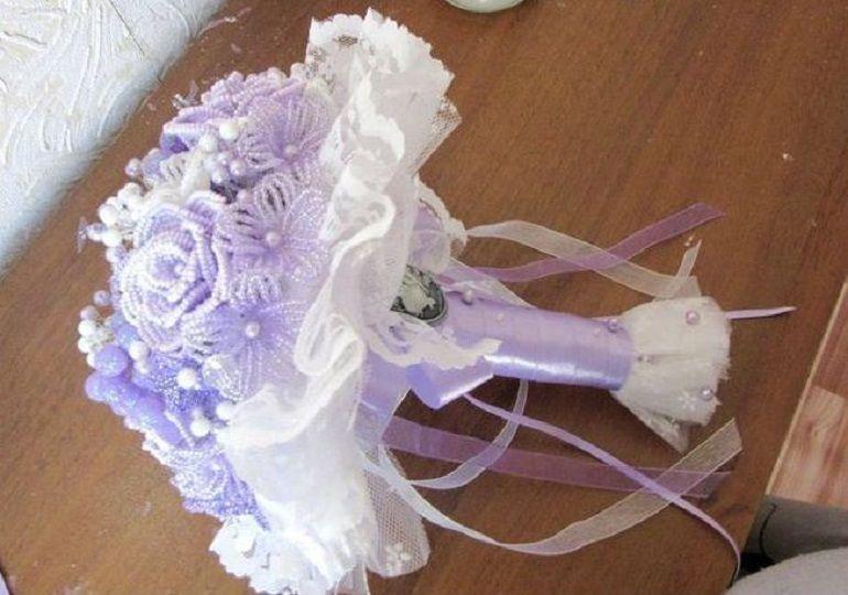 Свадебный бисерный букет