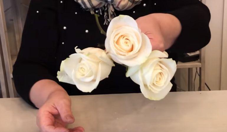 Центральная часть цветочной композиции