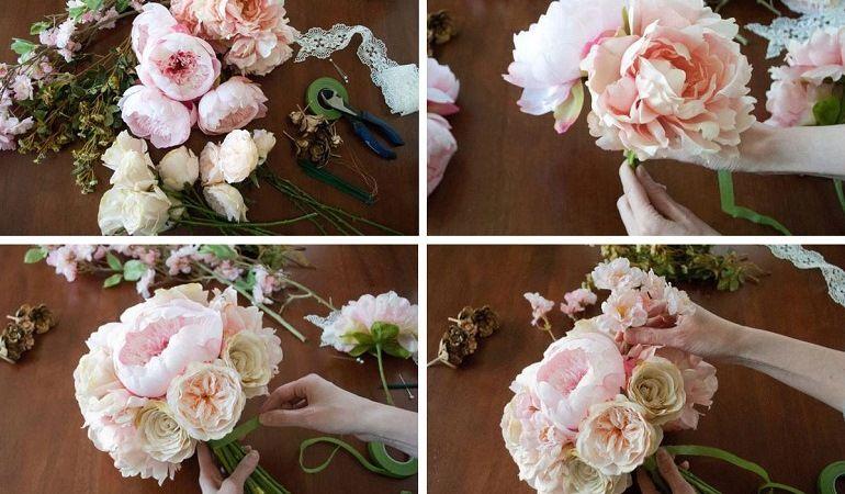 Как собрать букет невесты в пастельных тонах
