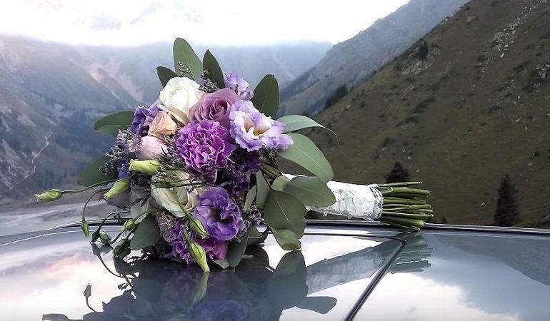 Свадебный букет пудрового цвета