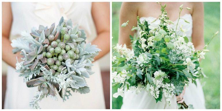 Бруния, зелень в букете невесты
