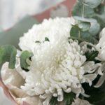 Букеты из одноголовых хризантем
