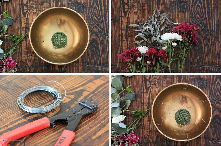 как собрать осеннюю композицию в вазе