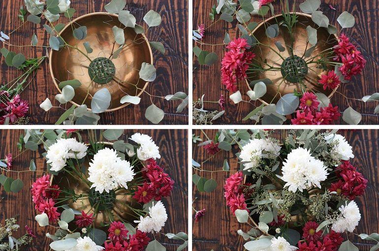 Осенняя композиция в вазе поэтапно