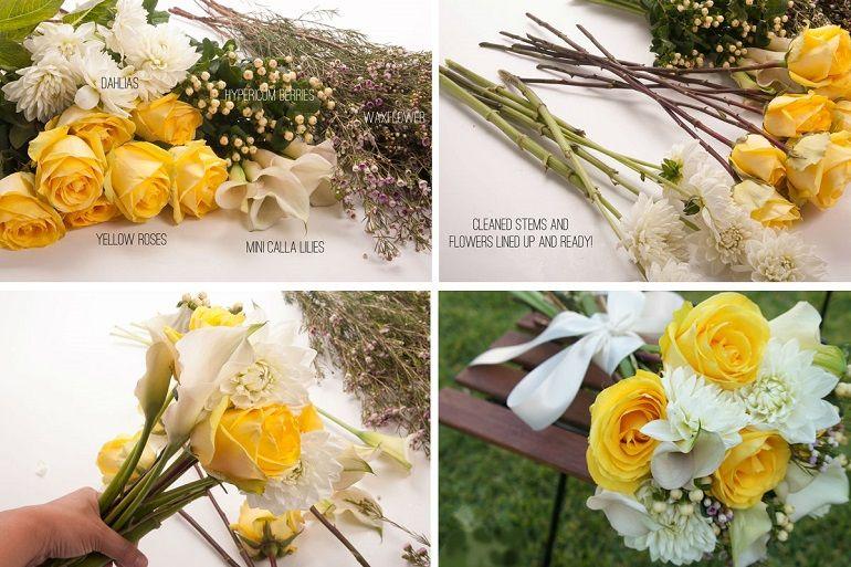 Хризантемы и розы для букета