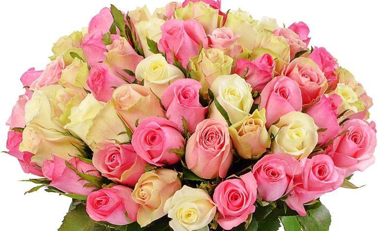 Букет из роз на юбилей