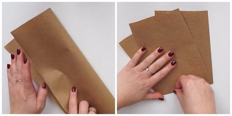 Подготовить крафт бумагу для упаковки букета