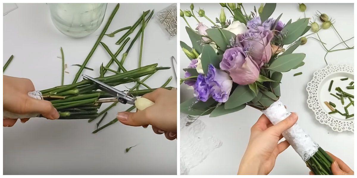 Обрезать стебли цветов