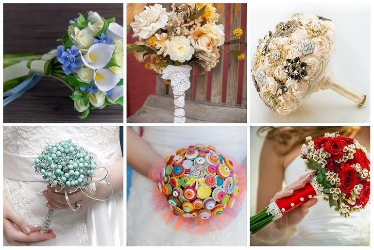 Как украсить свадебный букет