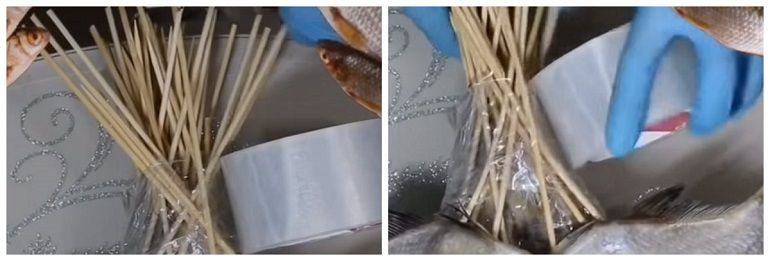 Фиксация шпажек скотчем
