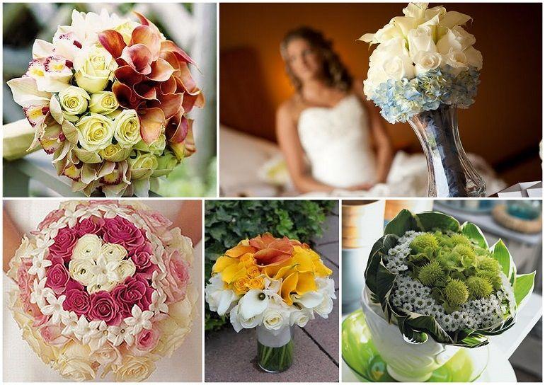 Виды букетов для невесты