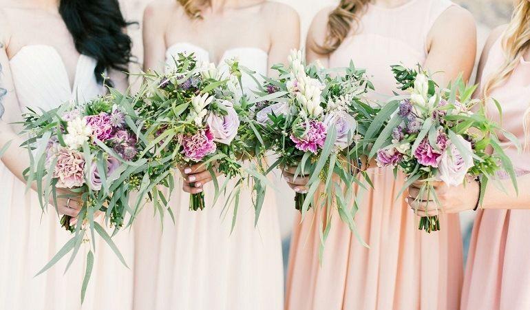 Греческая свадьба - букеты