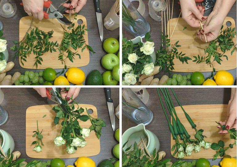 Пошаговая инструкция создания букета из ягод и фруктов