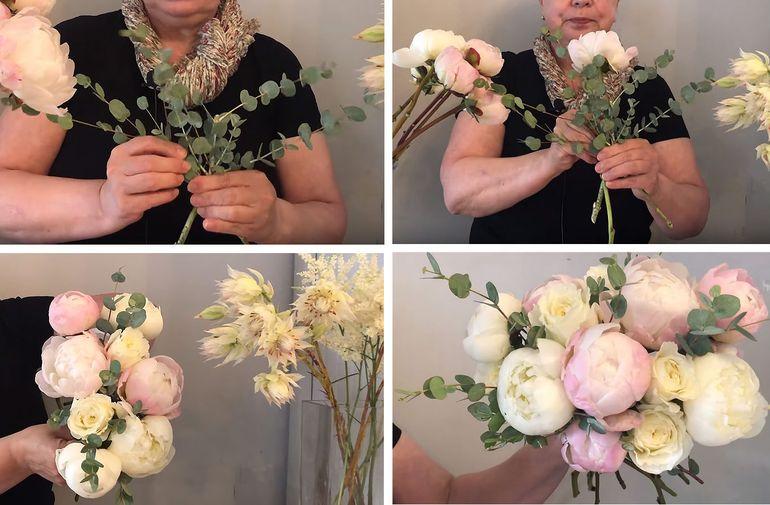 Пошаговая инструкция оформления бежевого букета невесты