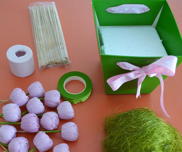 Изготовление новогоднего букета из мыла