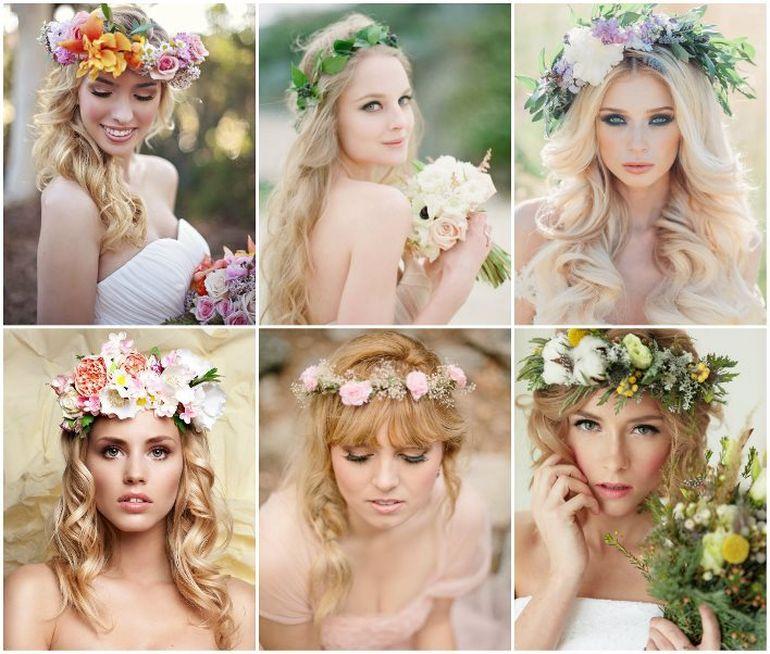 Мастер-класс по изготовлению свадебного веночка для невесты из садовых цветов
