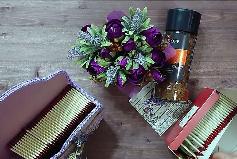 Мастер-класс по изготовлению новогоднего букета из чая на подарок