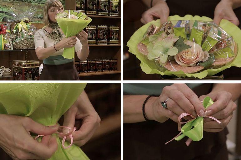 Мастер-класс по изготовлению новогоднего букета из чая-ассорти