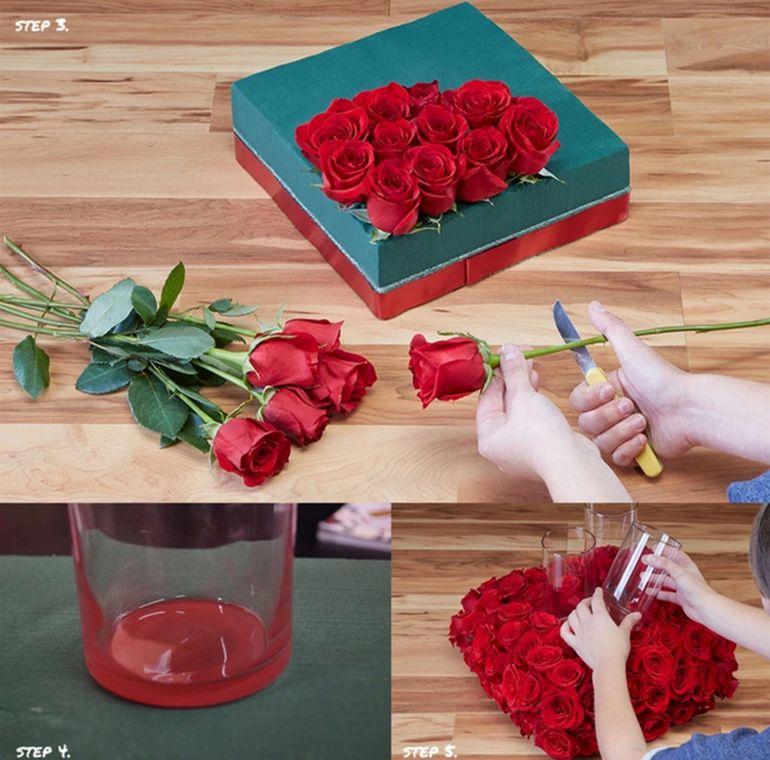 Мастер-класс по сборке цветочной композиции со свечами на 14 февраля